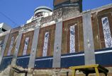 Knickerbocker Theater exposed interior walls featuring birds-of-paradise frescoes, Nashville,...