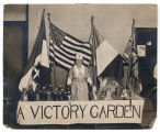 Photograph of World War I victory garden exhibit booth, between 1914 and 1918