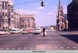 Slide Collection - Street Scene, Broad Street at Eighth Avenue