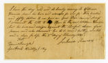 Slave deed from Joshua Reams, to William Harrison, Jr., Williamson County, Tennessee, 1841...