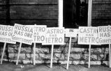 Photograph of picket signs protesting Metro Consolidation, ca. 1962