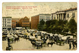 Davidson County Court House and Public Square showing wagon market, Nashville, Tenn., 1909
