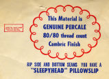 "Werthan Bag Corporation printing proof 052 -- ""'Sleepyhead' Pillowslip"""