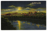 Skyline at night, Nashville, Tennessee, between 1930 and 1945