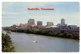 Nashville on the Cumberland River, circa 1970