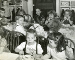 Children feted at party at Day Home, circa 1950 December 18