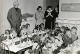 Fannie Battle children have Christmas dinner, circa 1949 December 19