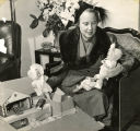 Mrs. T.M. Harris, in charge of the purchase of toys for the annual Christmas tree at the Fannie...