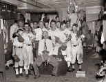 Nashville Vols baseball team celebrate a win, 1948 September 21