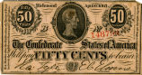 Confederate fractional note...