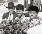 Wilma Rudolph and parents in a parade in Clarksville, Tennessee, after the Rome Olympics, 1960...