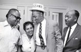 Avon N. Williams, Jr.,  and Marie Bontemps celebrate after Tennessee state Senate race, 1968...