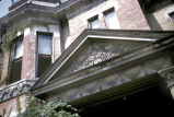 Close up of the upper façade of the Hamilton Parks residence, circa 1960 September 15