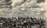 Downtown Nashville skyline, facing northwest, circa 1950 August