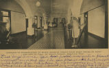 Corridor of Conservatory of Music, showing twenty-four music rooms on right and left of hall, St....