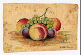 Fruit painting, circa 1859