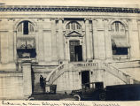 Photograph of the Carnegie Library Entrance, circa 1930