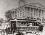 Photograph of Nashville's Cedar Street electric streetcar, ca. 1900