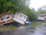 Collision of mobile homes near Antioch Pike during the May 2010 flood