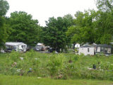 Damaged mobile homes near Antioch Pike during the May 2010 flood