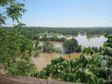 Flooded fields and barns in Neely's Bend during the May 2010 flood