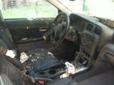 The damaged interior of Lonnie Haynes's car after the car flooded during the May 2010 flood