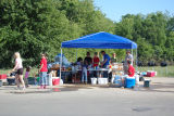 A volunteer tent in the Harpeth Bend neighborhood of Bellevue during the May 2010 flood