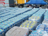 Cases of bottled water distributed by the Office of Emergency Management in the aftermath of the...