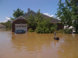 An inundated home in Pennington Bend during the May 2010 flood