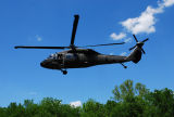 Tennessee Highway Patrol helicopter with emergency supplies during the May 2010 flood