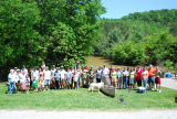 Group picture of the Davenports and their neighbors during the May 2010 flood