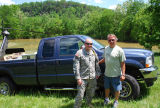 Danny Davenport and the National Guard captain who provided emergency supplies during the May 2010...