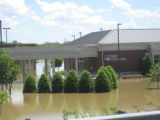 Flooded First Tennessee Bank in the Jackson Downs shopping center of Donelson during the May 2010...