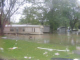 Floodwaters surround mobile homes near Antioch Pike during the May 2010 flood