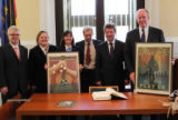 "Doug Berry and Burkley Allen of Sister Cities of Nashville present commemorative ""Spirit of..."