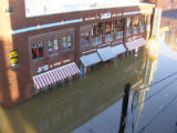Flooded Joe's Crab Shack restaurant on Second Avenue South in downtown Nashville during the May...