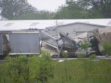 Wreckage from mobile homes in Antioch during the May 2010 flood