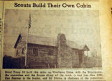 Scouts build their own cabin, from the Nashville Times, 1940