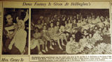Dance fantasy is given at Shillinglaw's, from the Nashville Times, 1940