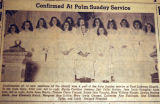 Confirmed at Palm Sunday Service, from the Nashville Times, 1940