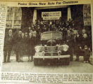 Pastor given new auto for Christmas, from the Nashville Times, 1940