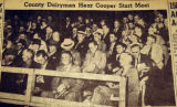 County dairymen hear Cooper start meet, from the Nashville Times, 1940
