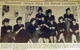 Housewives' League plans for annual luncheon, from the Nashville Times, 1940