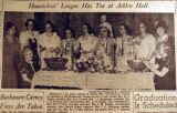 Housewives' League has tea at Acklen Hall, from the Nashville Times, 1940