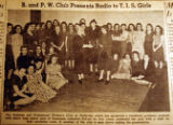 B. and P. W. Club presents radio to T. I. S. Girls, from the Nashville Times, 1940