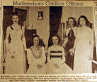 Murfreesboro Cotillion officers, from the Nashville Times, 1940