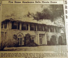 Fire razes handsome Belle Meade home, from the Nashville Times, 1940