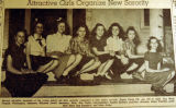 Attractive girls organize new sorority, from the Nashville Times, 1940