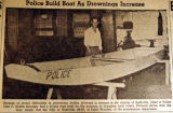 Police build boat as drownings increase, from the Nashville Times, 1940