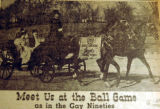 Meet us at the ball game, as in the Gay Nineties, from the Nashville Times, 1940